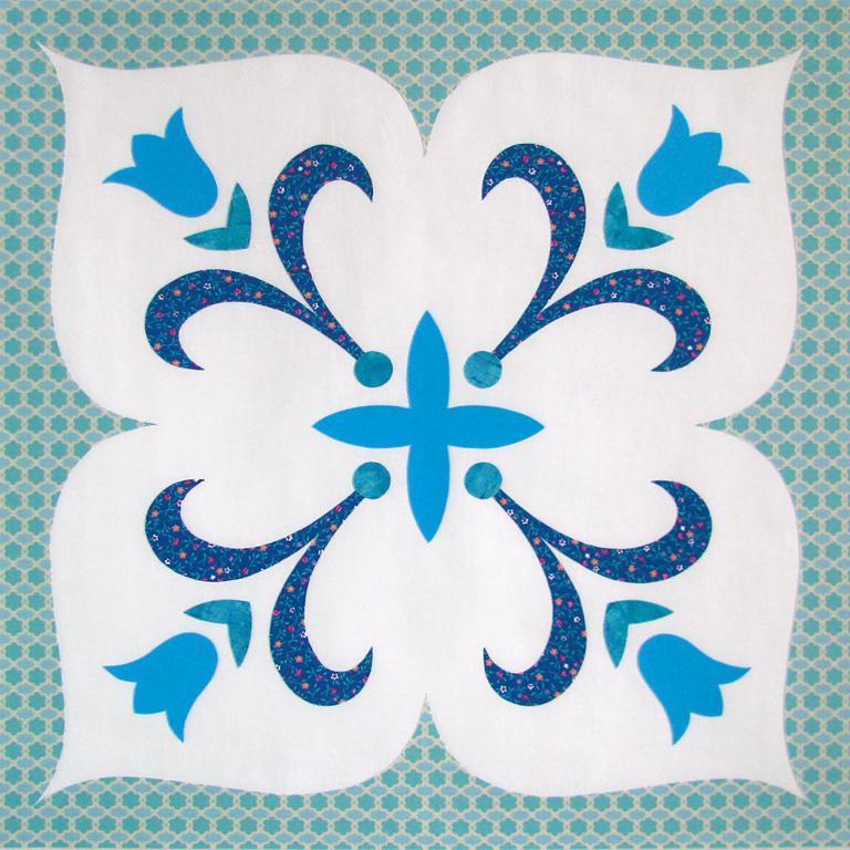 Floral Ornament Applique Quilt Pattern