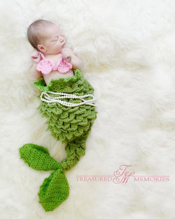 Textured Mermaid Tail Crochet Pattern