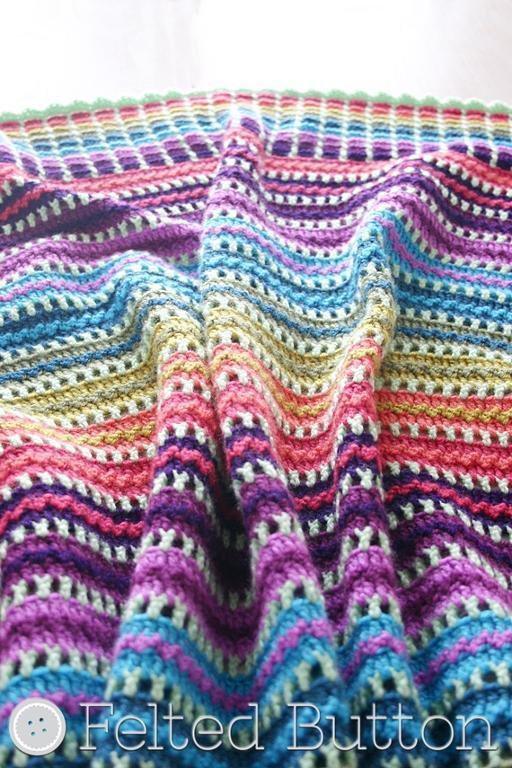 Skittles Baby Blanket FREE Crochet Pattern