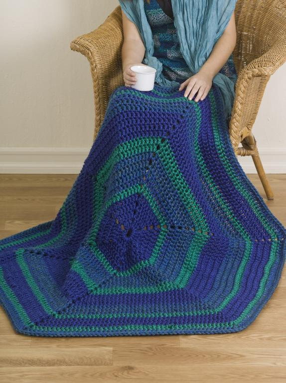 Mega-Motif Throw Crochet Pattern