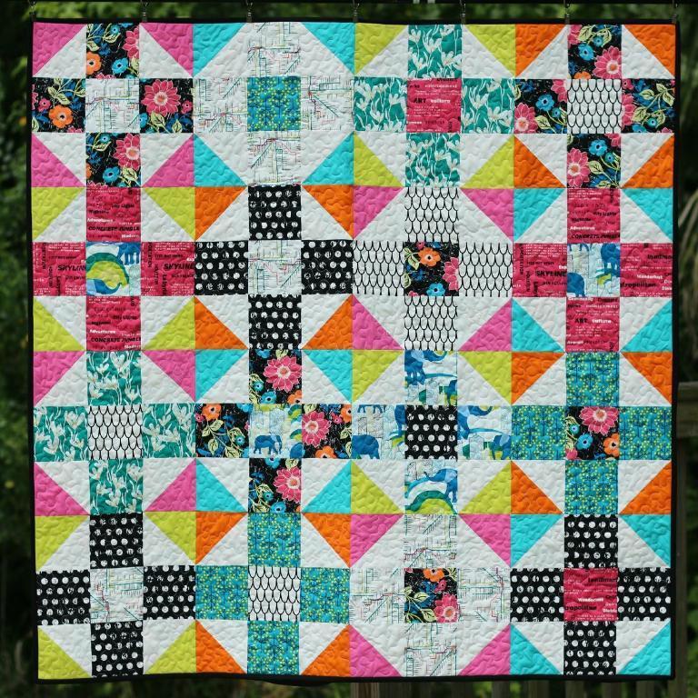 Mod Nine Patch Quilt