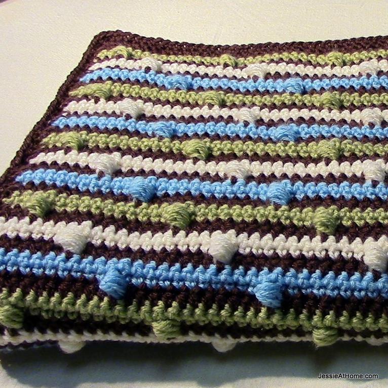 Joseph's Puff Stitch Blanket FREE Crochet Pattern