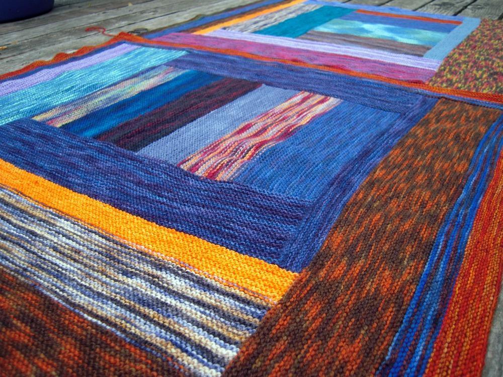 Itty Bitty Sock yarn Bits Blanket Knitting Pattern