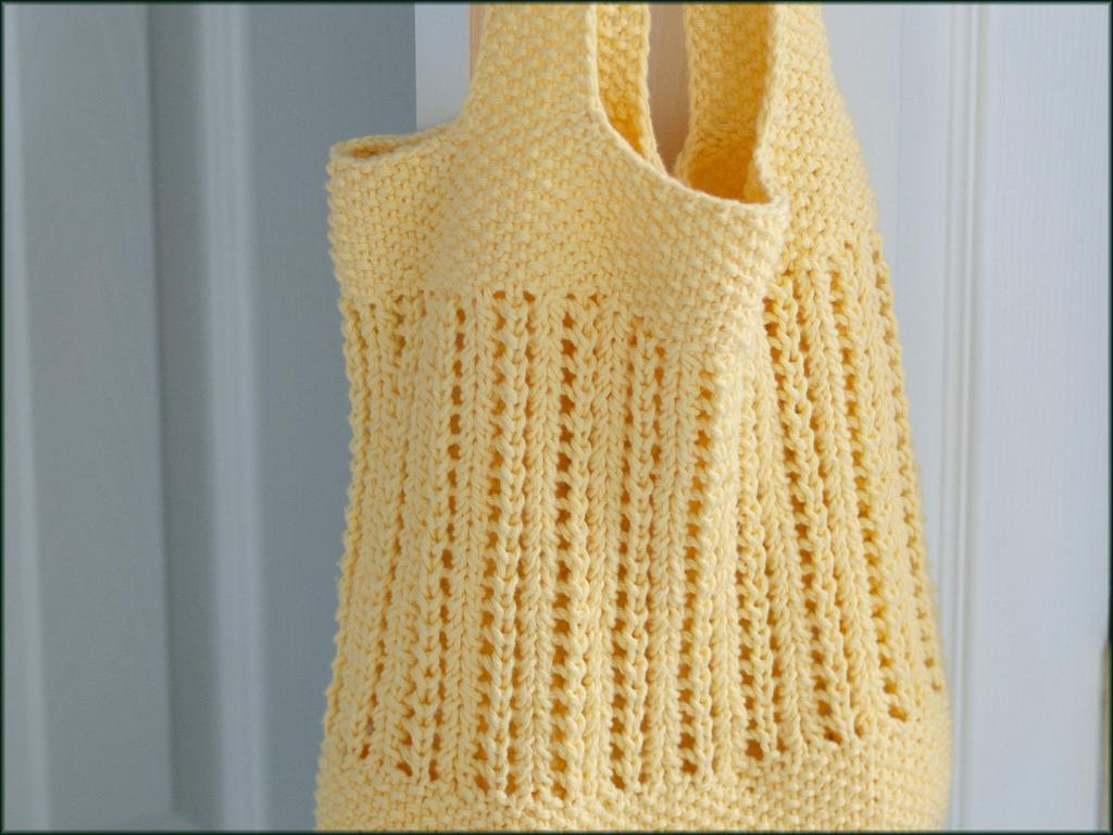Knit Market Bag Pattern