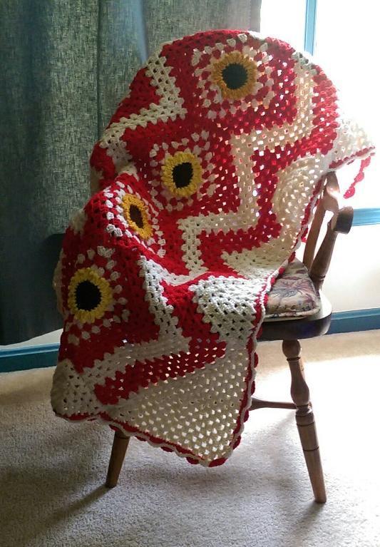 Sunflower Afghan Crochet Pattern