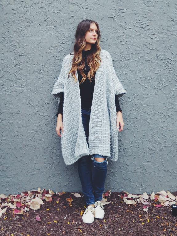 Cloaked in Clouds Poncho