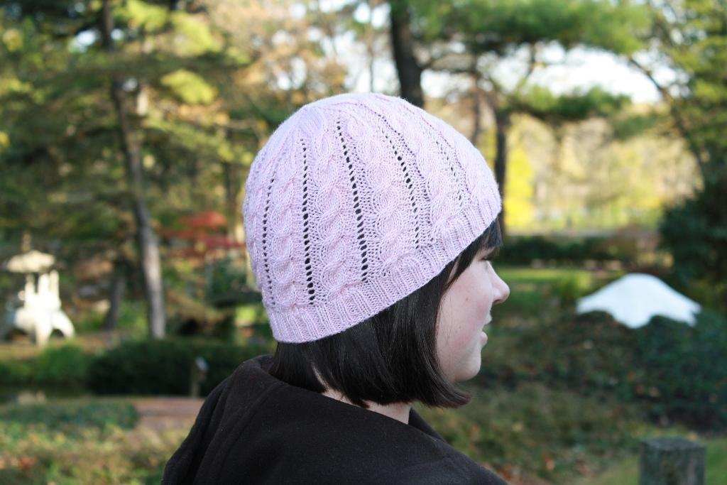 Crooked Cable Cap Knitting Pattern