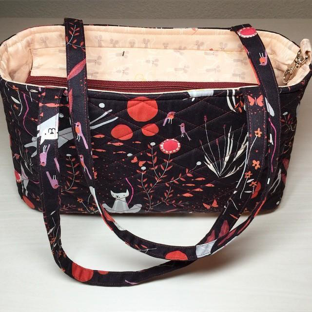 Homemade Bag with Black Cat Fabric