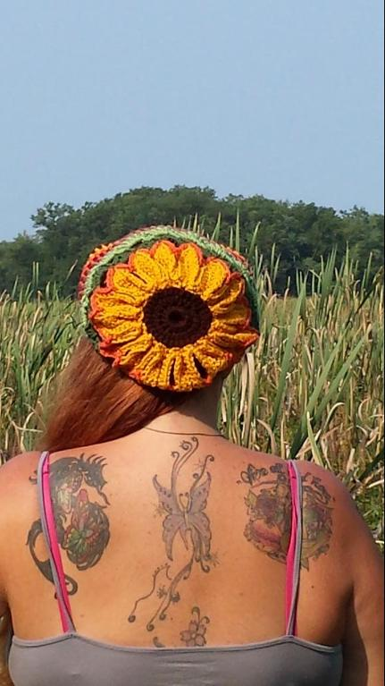 Sunflower Slouchy Crochet Pattern