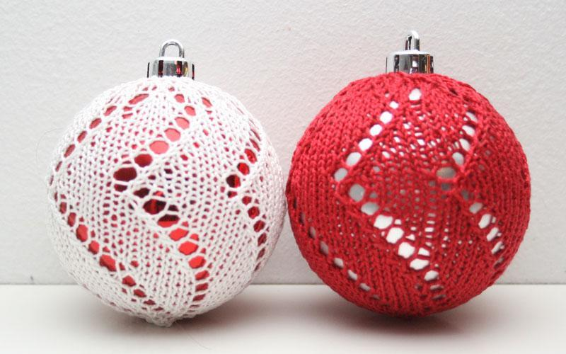 Red and White Ball Christmas Ornaments