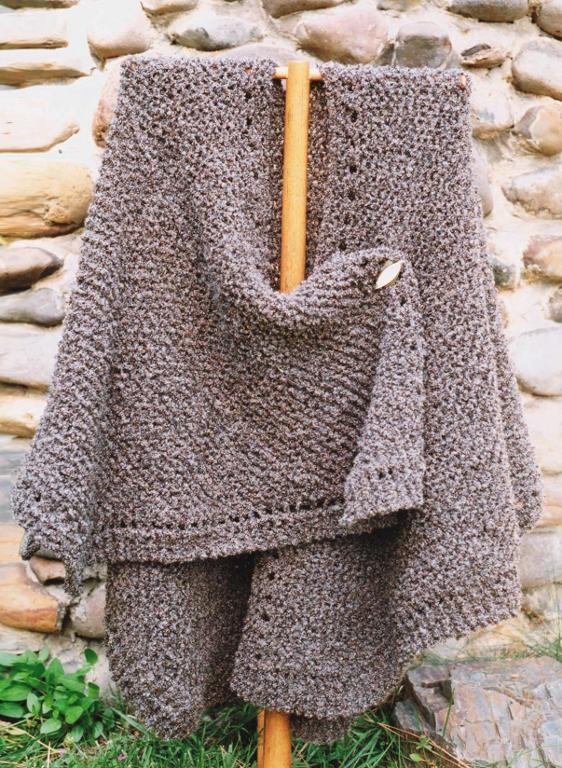 Knit Ruana Knitting Pattern