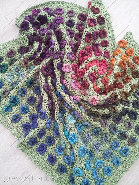 Monet's Garden Throw Crochet Pattern