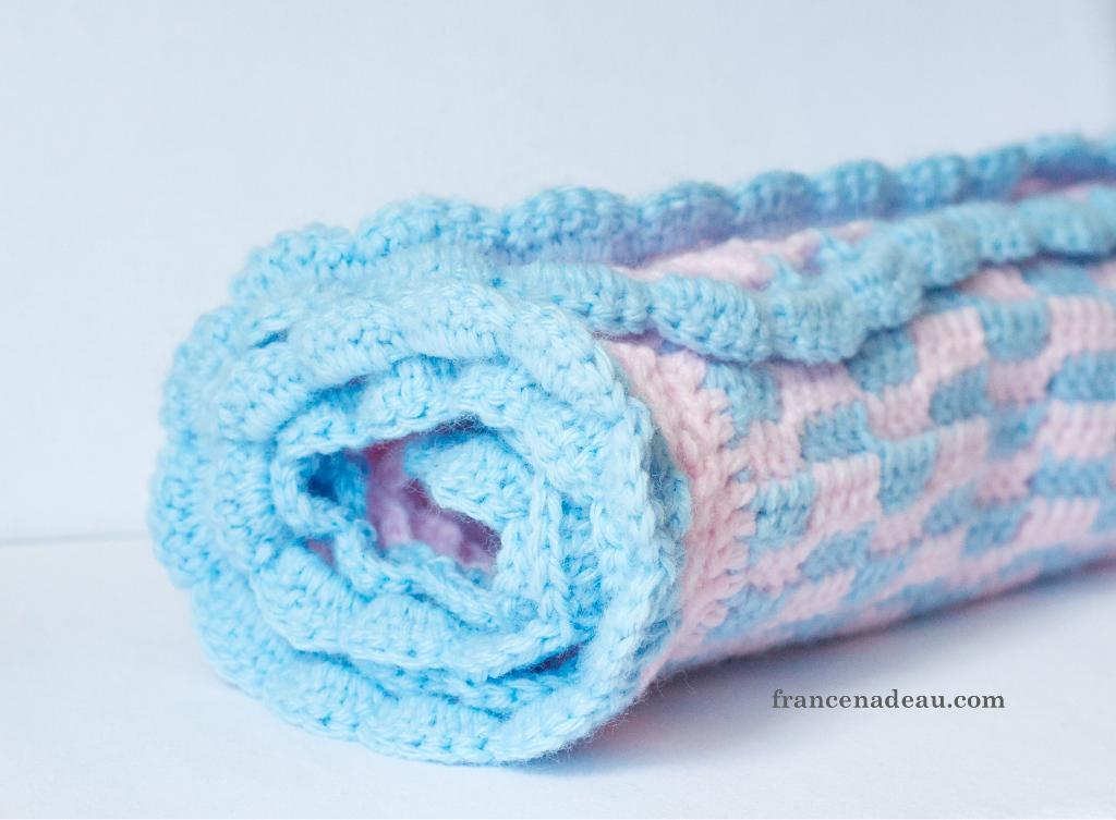 Brick-Wall Baby Blanket FREE Crochet Pattern