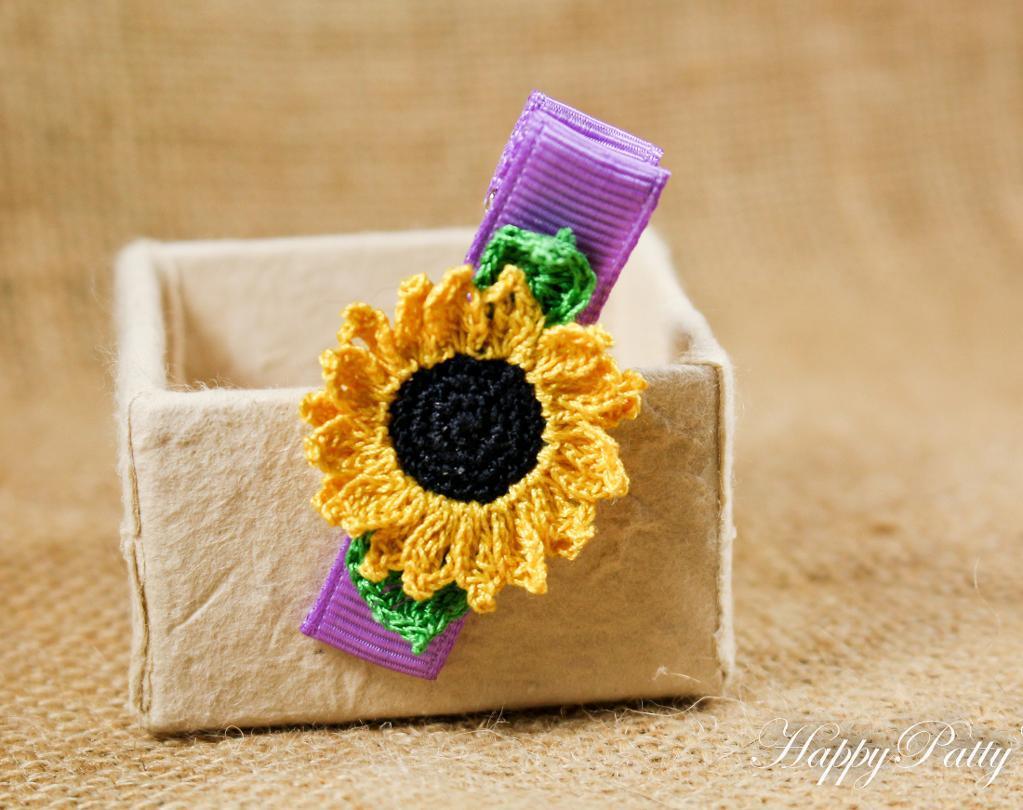 Sunny Small Sunflower FREE Crochet Pattern