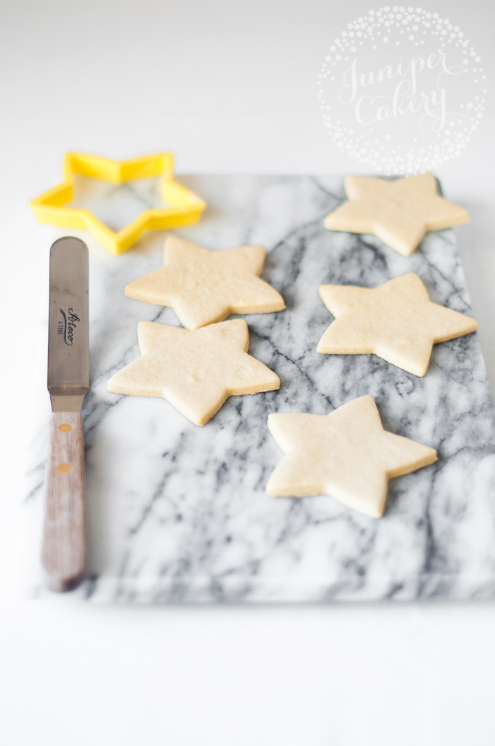 Star-Shaped Sugar Cookies With No Icing