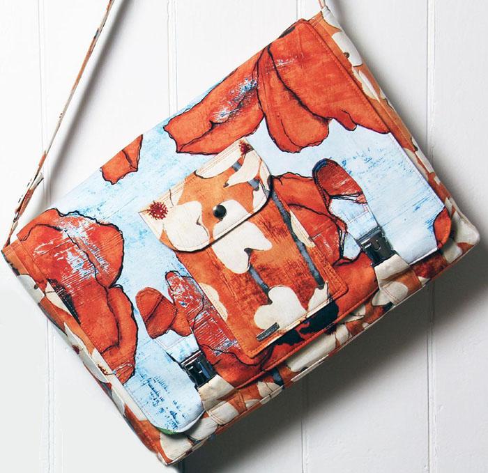Laptop Bag Pattern in orange print