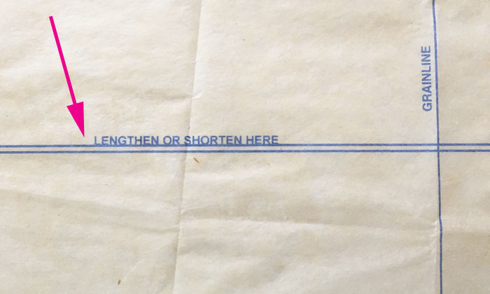 lengthen or shorten here mark