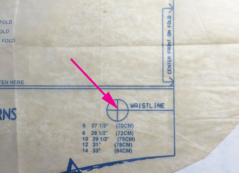 waistline measure mark
