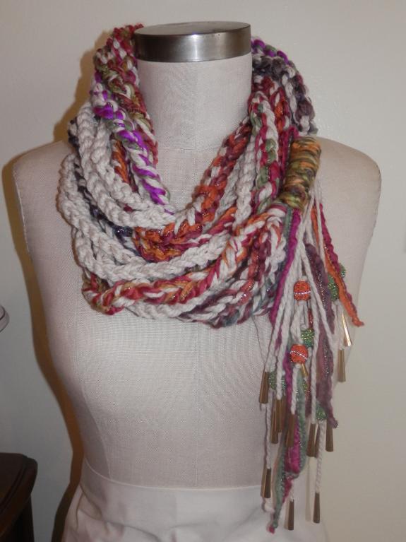 yarn chain scarf