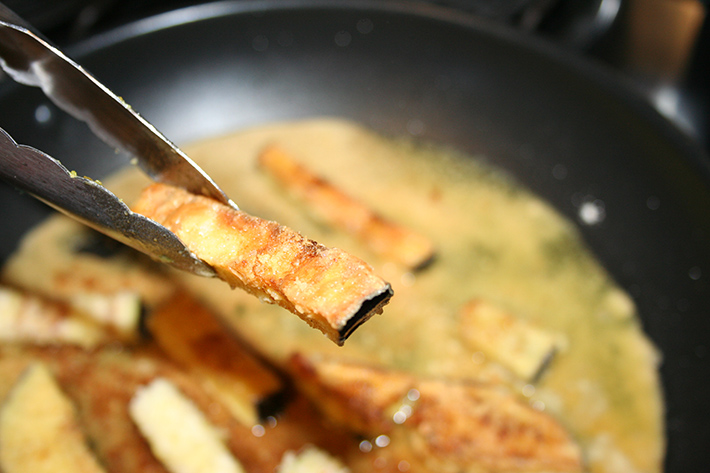 Quick Pan-Fried Eggplant Fries