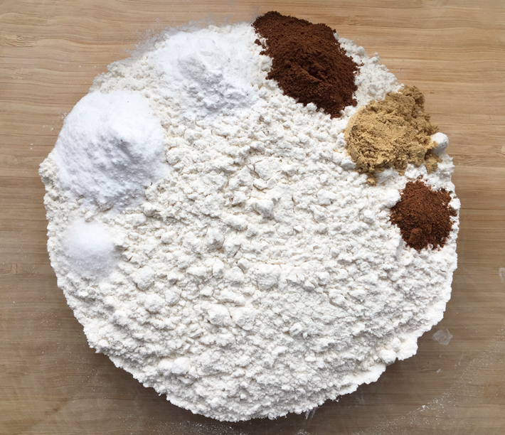 Dry ingredients for carrot cake whoopie pies