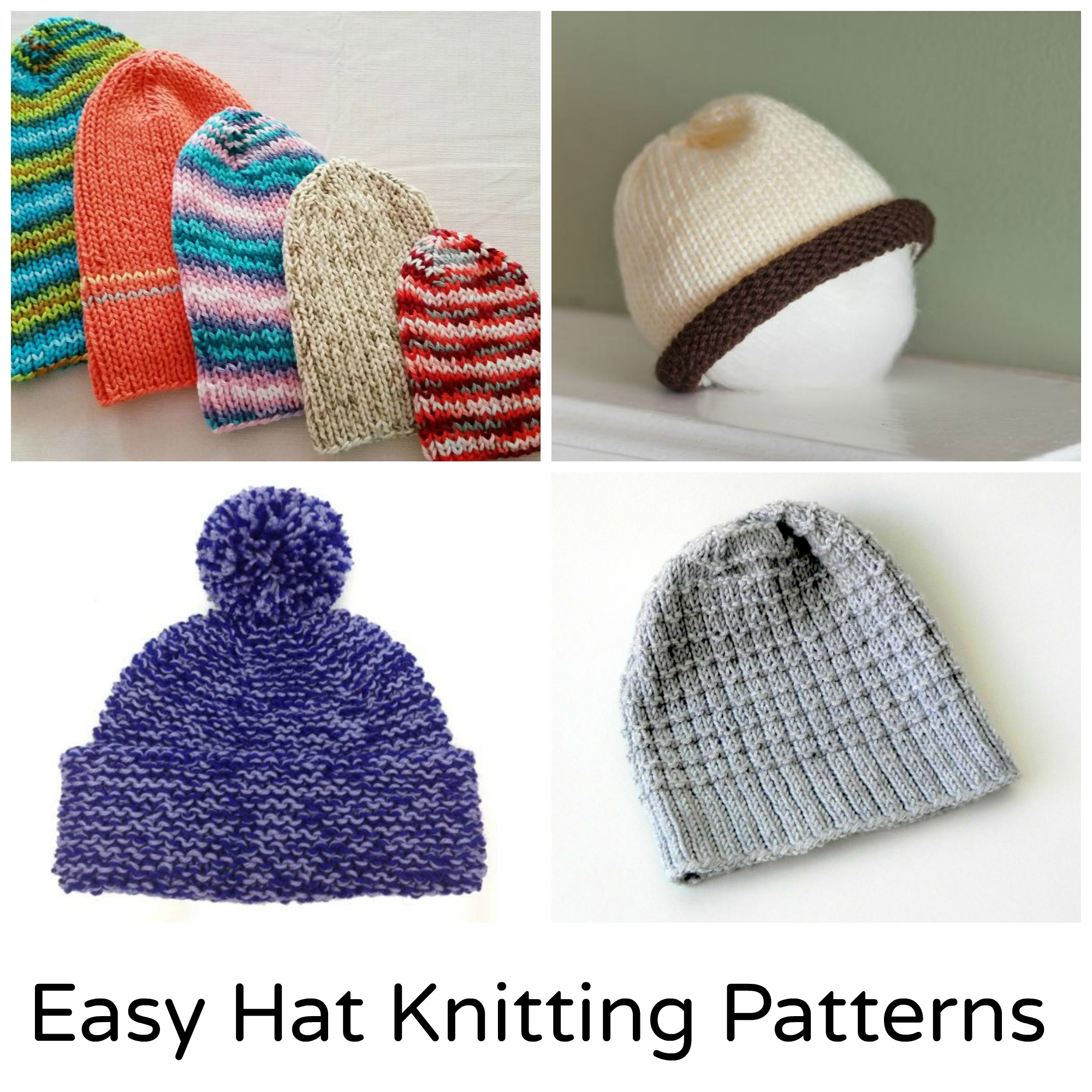 Easy Knit Hat Patterns