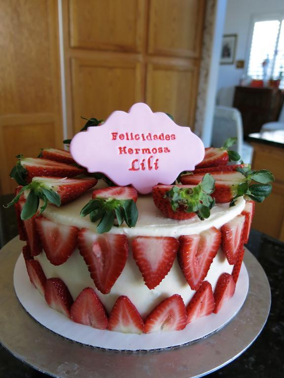 Strawberry Cake by Elaine Truong