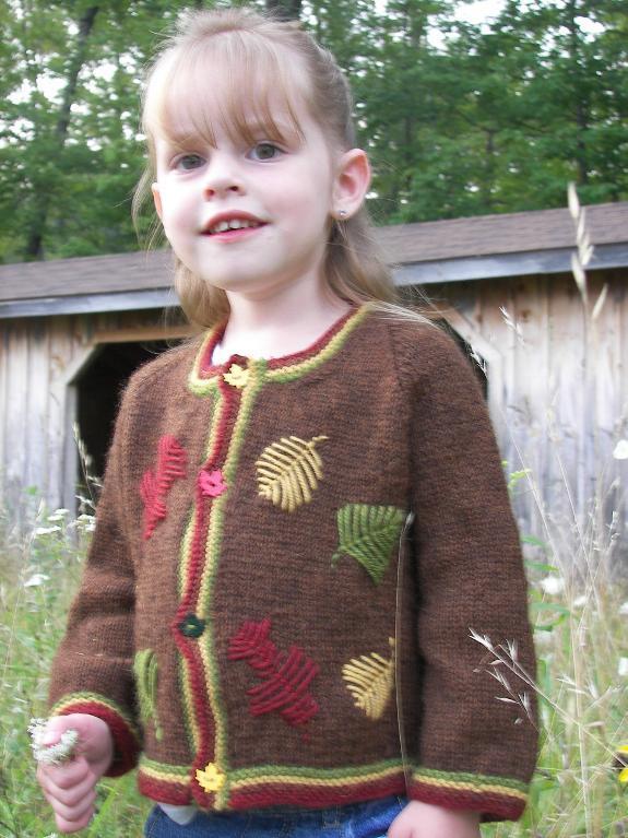 Autumn Leaves Jacket Knitting Pattern