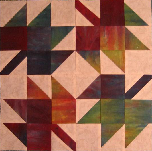 Free Maple Leaves Quilt Block Pattern