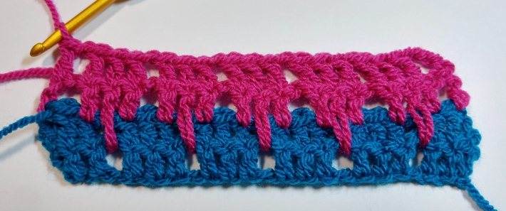 Two Rows of Larksfoot Stitch