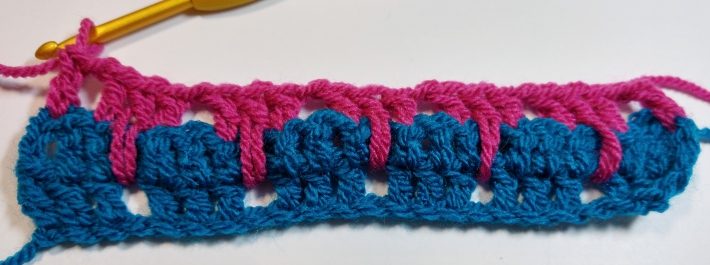 One Row of Larksfoot Stitches
