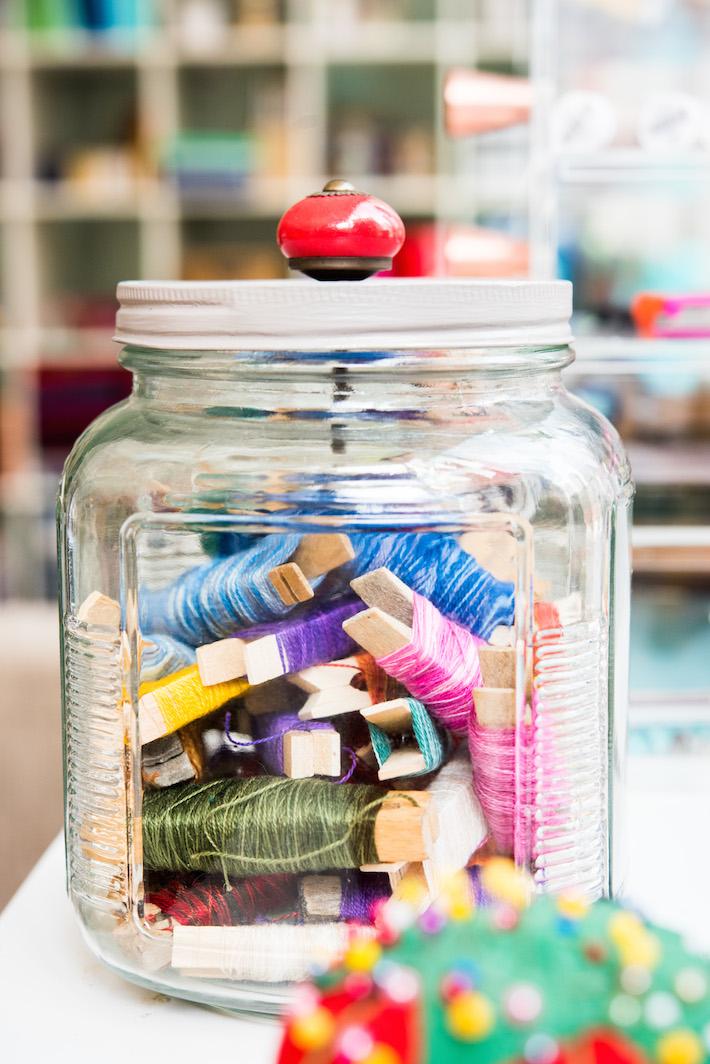 Cookie Jar Embroidery Floss Storage