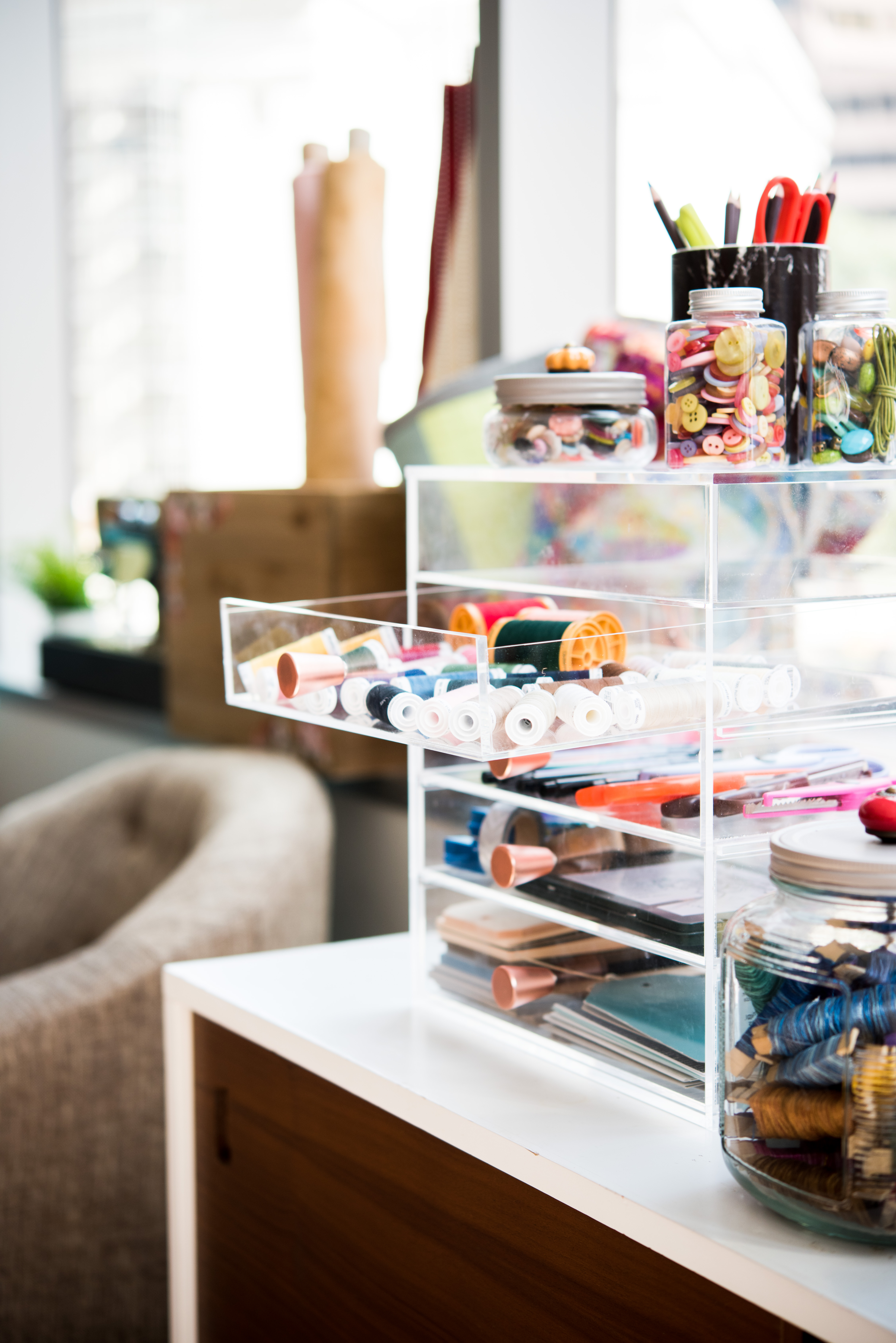 Inspiring Ways to Organize Quilting and Sewing Supplies