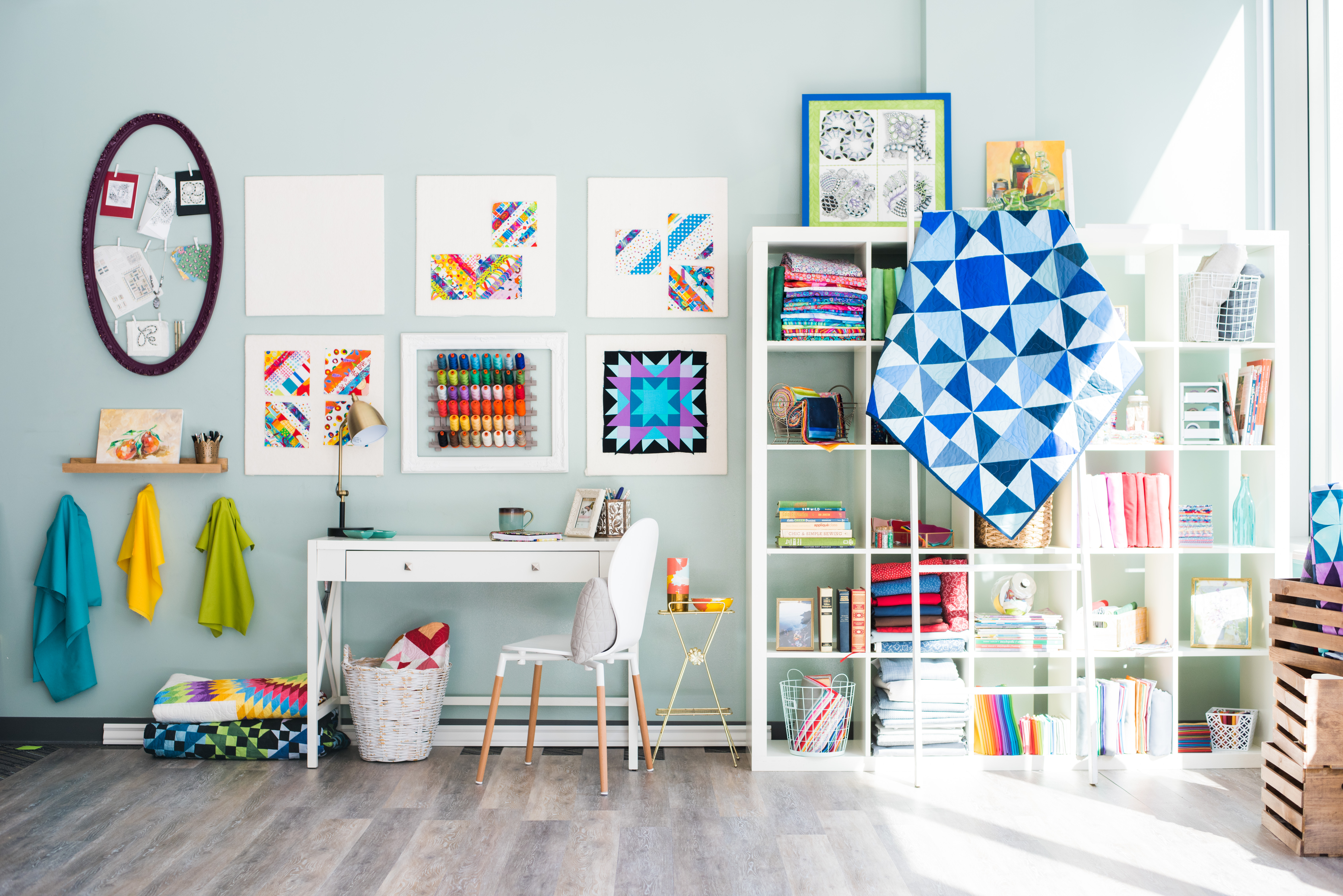 A Colorful Quilting Studio