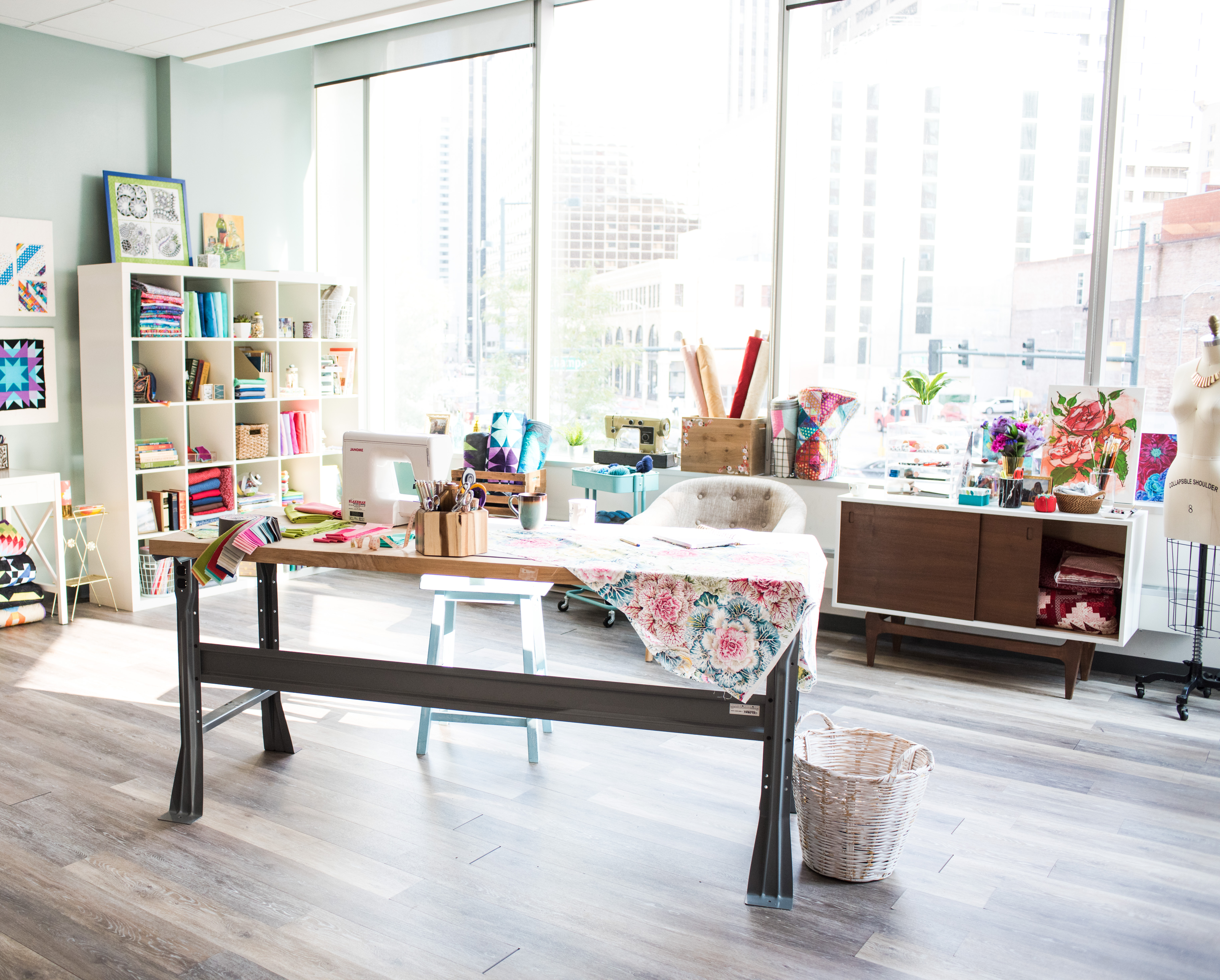 A Bright, Beautiful Quilting Studio