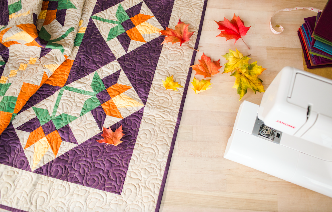 Fall Quilt Inspired by Leaves