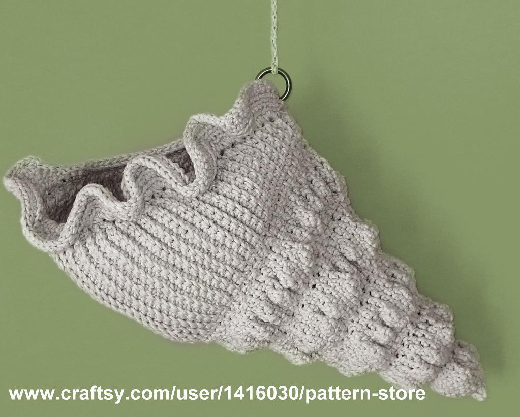 Seashell Crochet Basket