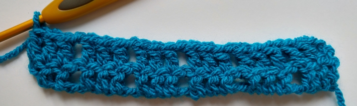 Two Rows of Larksfoot Stitch Swatch