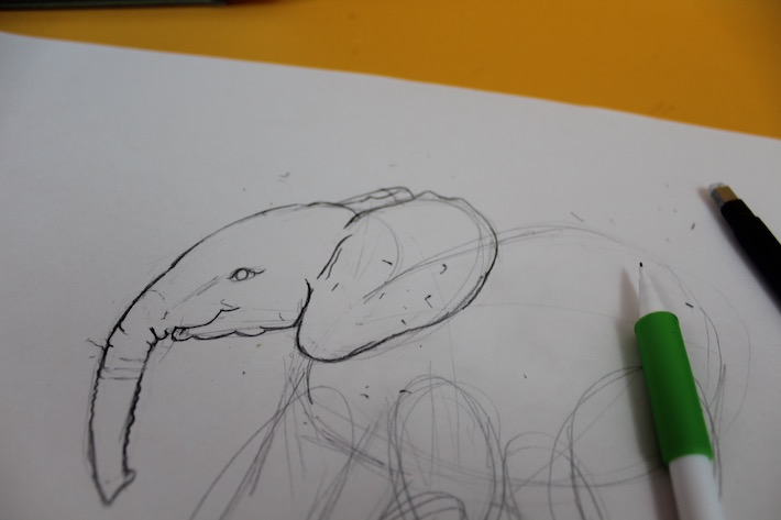 Refined elephant drawing