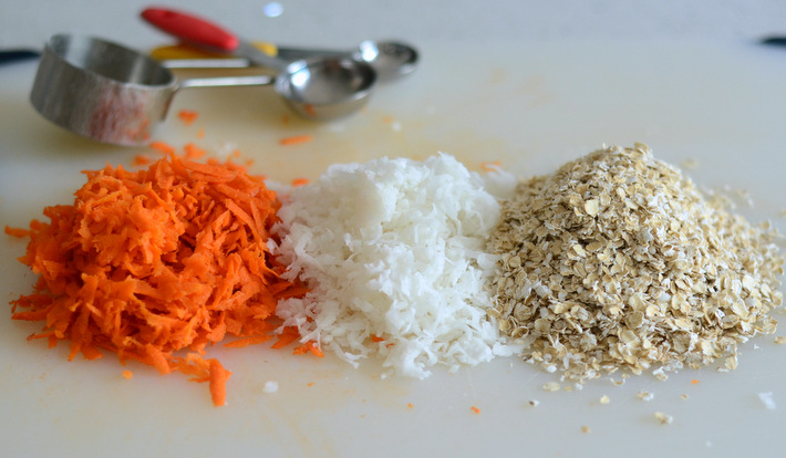 Carrots, Coconut and Oatmeal for Fall Morning Muffins