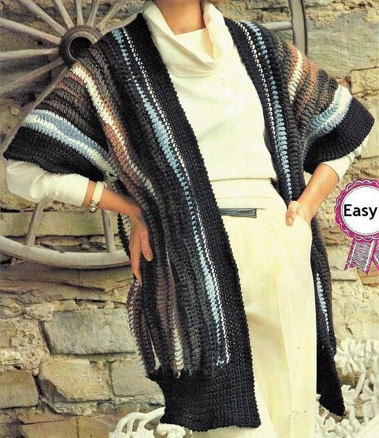 Crochet Oversize Kimono Pattern