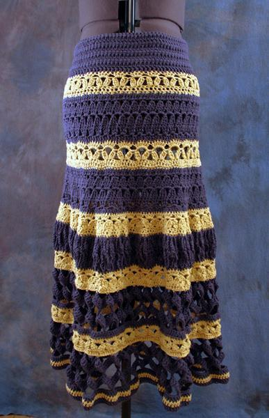 Lupe Tiered Maxi Skirt Crochet Pattern