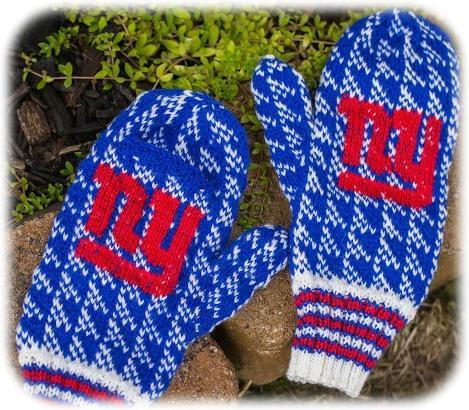 Team Spirit Mittens Knitting Pattern