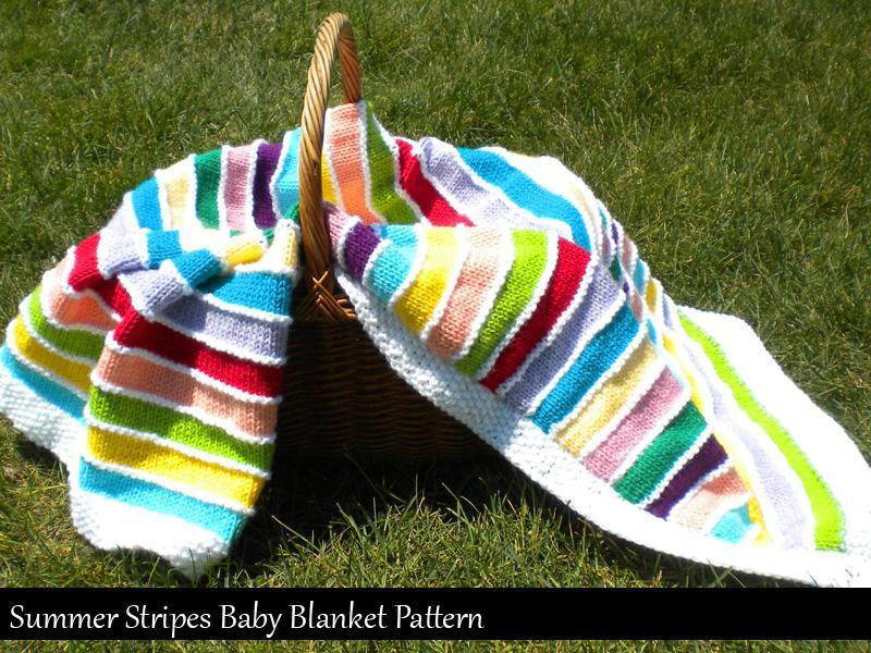 Summer Stripes Blanket Knitting Pattern