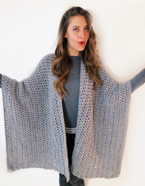 Blanket Ruana Crochet Pattern