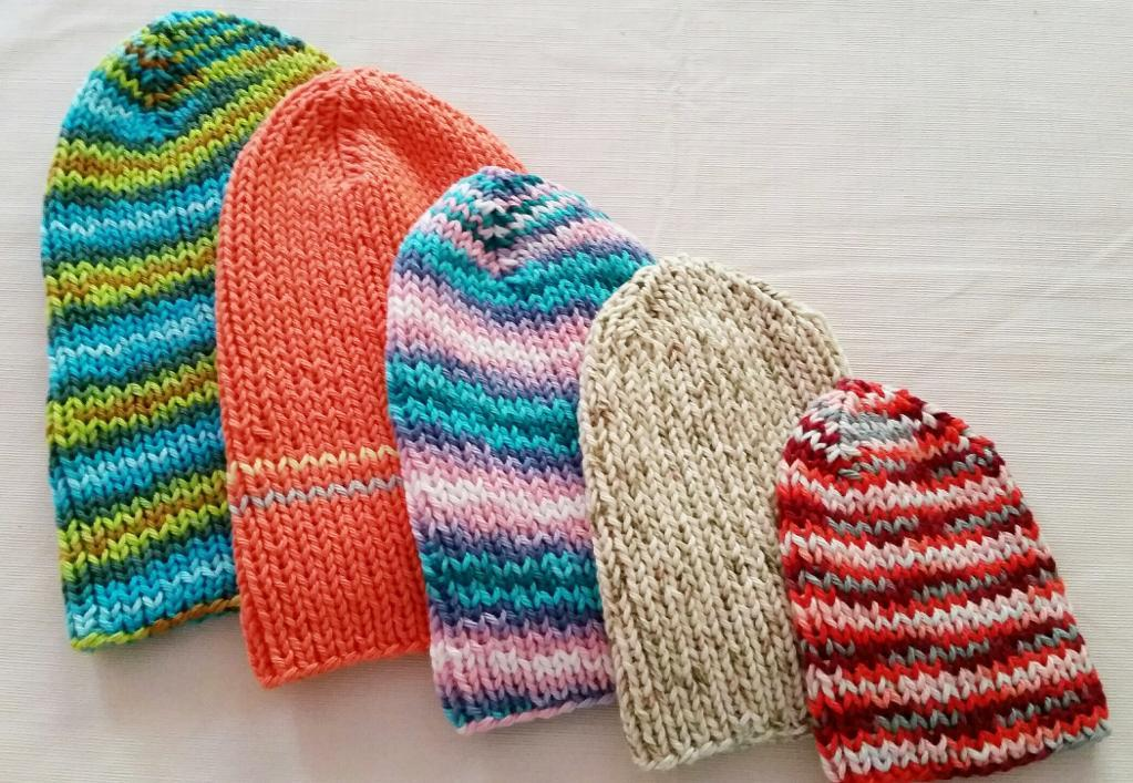 Simple Knit Hats for the Family FREE Knitting Pattern