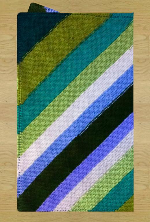 Diagonal Blanket Knitting Pattern