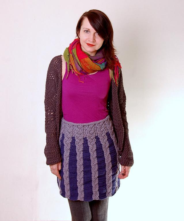Cabled Winter Skirt Crochet Pattern