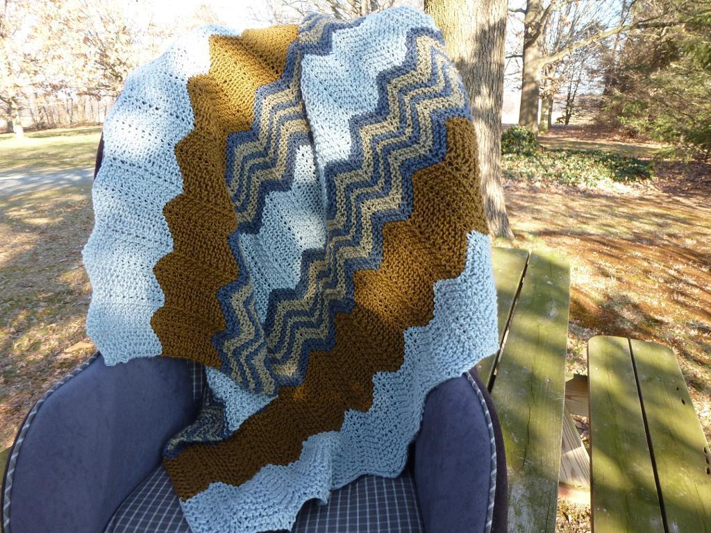 Beach Stripe Baby Blanket Knitting Pattern