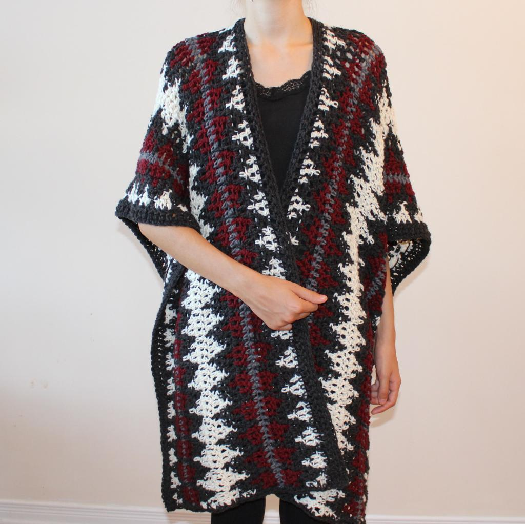 Sandy Hill Ruana Crochet Pattern